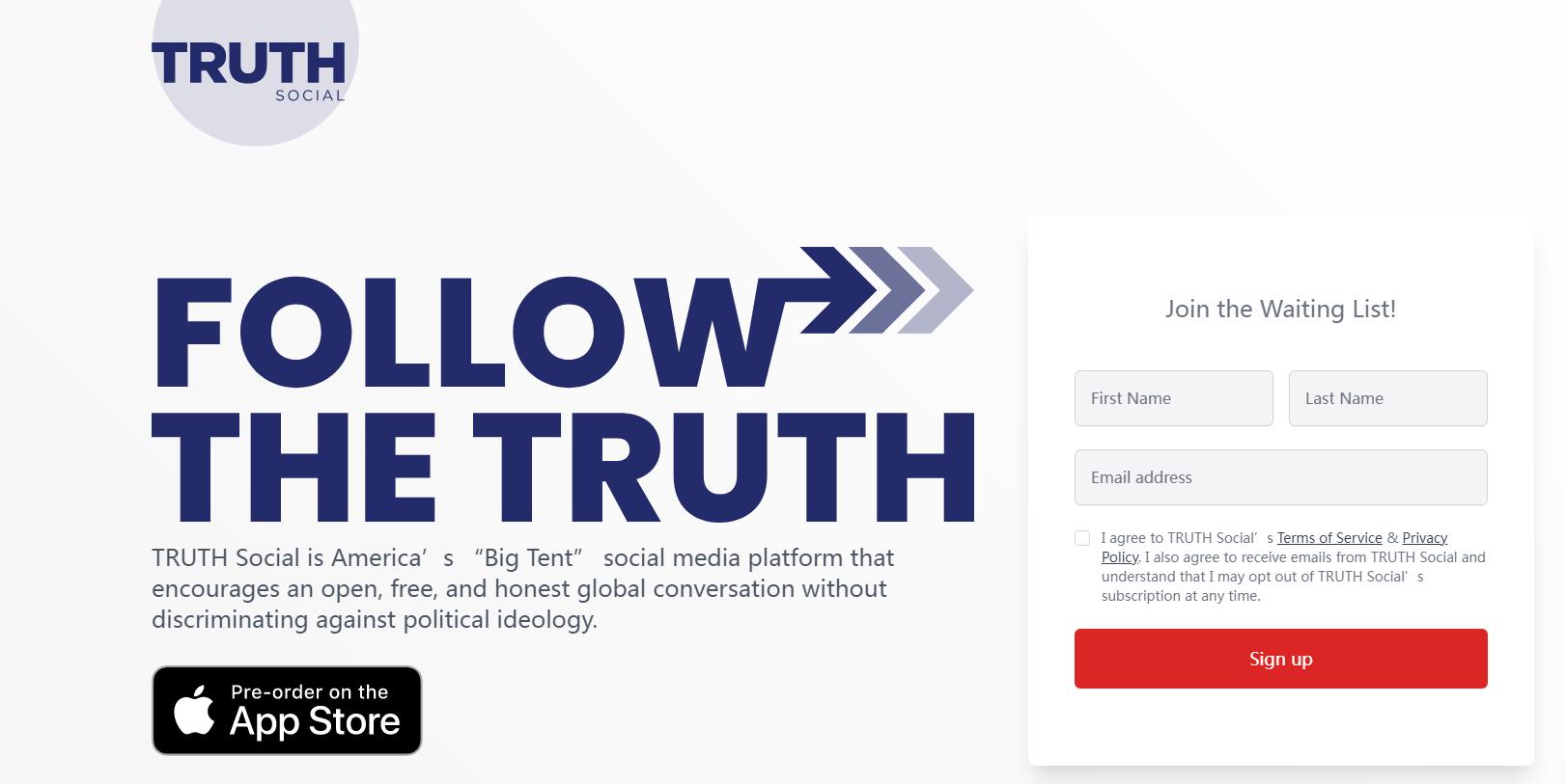 特朗普推出专属平台,启用TruthSocia.com为平台域名